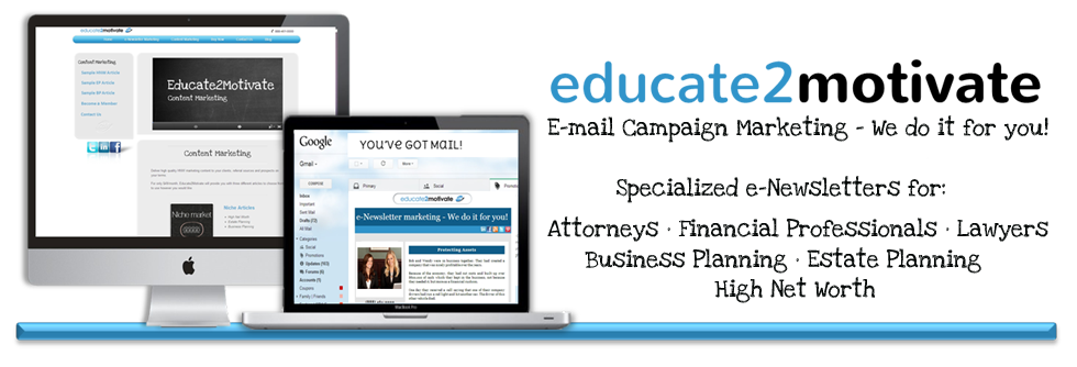 e-mail marketing campaigns specialized for lawyers, attorneys and financial professionals